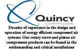 Quincy Compressed air systems